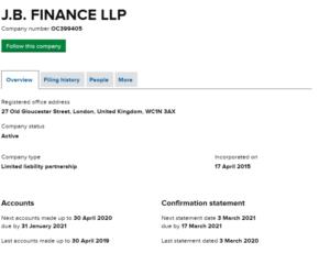 Чем же занимается компания JB Finance LLP
